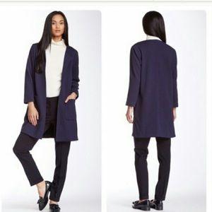 Harlowe & Graham Blue Side Zip Topper Jacket UU06